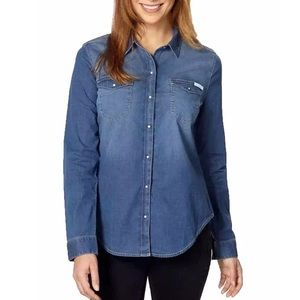 Calvin Klein Denim Button Down Shirt size M